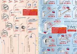 Reklamný leták SANITECH 2010: Reklamný leták predajnej akcie, rozmer strany A3 (obojstranne)