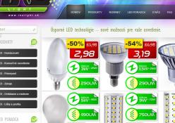 www.inolight.sk: Internetový obchod predajcu LED osvetlenia.
