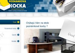 www.poznamkova-kocka.sk: Výroba a predaj poznámkových kociek