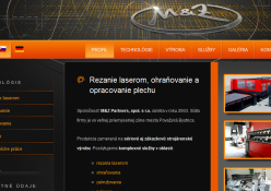 www.mzpartners.sk: Rezanie laserom, ohýbanie a opracovanie plechu.